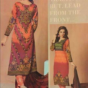 Indian stitched anarkail salwar kameez